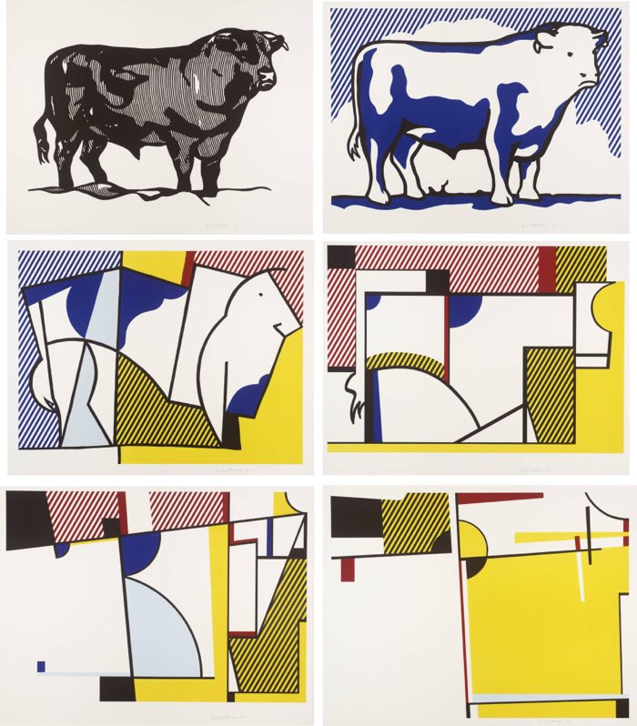 How to Teach Abstract Art, Concept of Abstraction, Roy Lichtenstein, Bull Series, 1973 Abstract Art Project