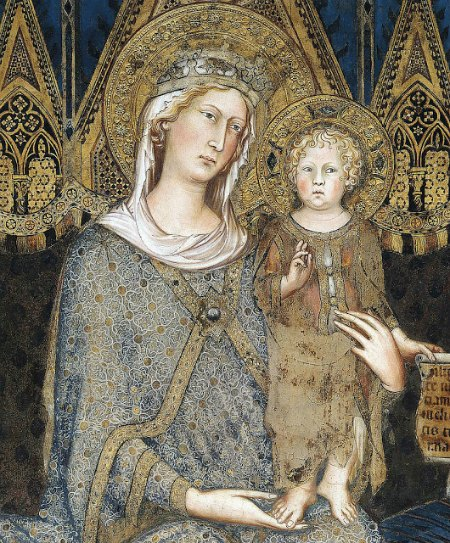 Simone Martini, Maestà (detail), 1315