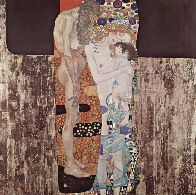 the Art Curator for Kids - Gustav Klimt - the Three Ages of Woman - Wordless Wednesday