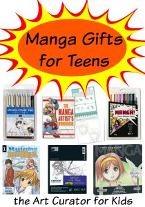the Art Curator for Kids - Manga Gifts for Teens. art gifts for kids