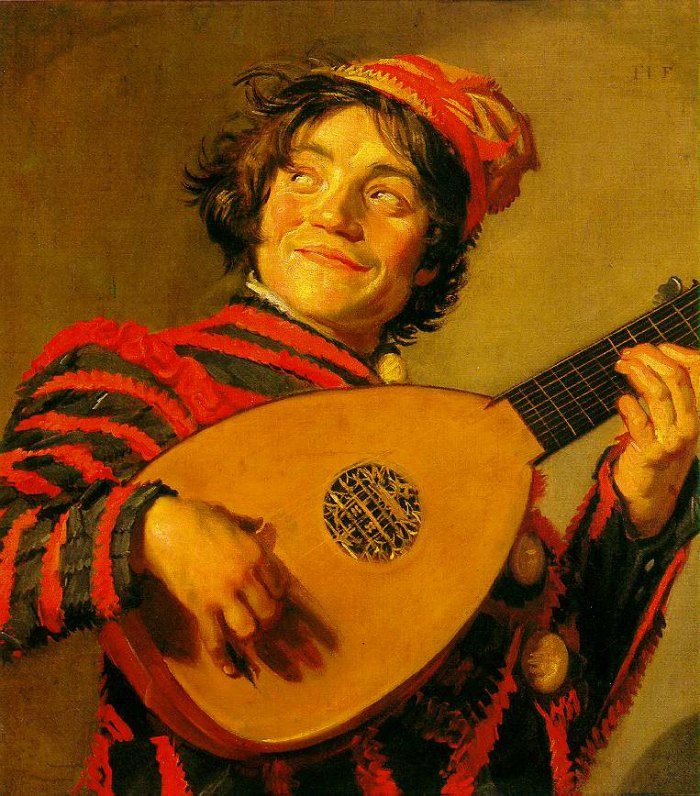 the Art Curator for Kids - Wordless Wednesday - Art History for Kids - Frans Hals - Jester with a Lute