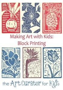 Art Curator for Kids - Making Art with Kids - Block Printing Art Tutorial - 300