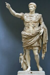 Augustus of Prima Porta, 1st century CE, Photo by Till Niermann, Ancient Greek Sculpture Lesson