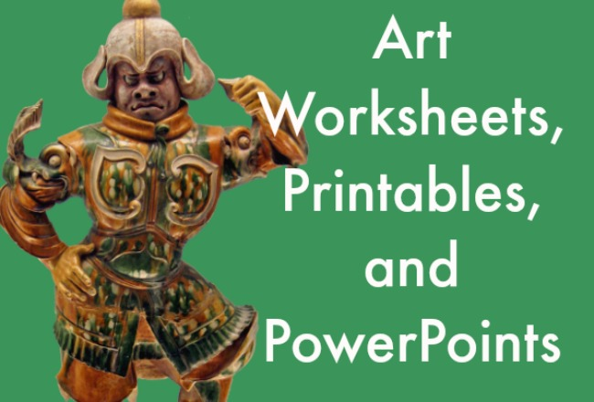 Printables Art History Worksheets art printables worksheets and powerpoints