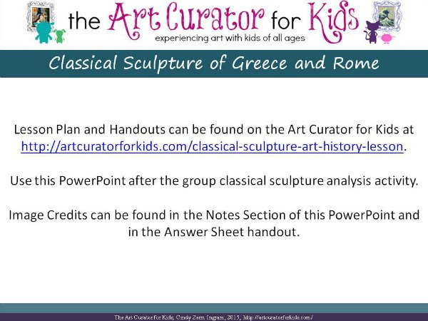 The Art Curator for Kids - Classical Sculpture Lesson Plan PowerPoint - Slide1
