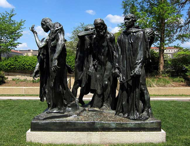 The Art Curator for Kids - Kinesthetic Art History, kinesthetic learning in art - Auguste Rodin, The Burghers of Calais, 1884-86 by AgnosticPreachersKid