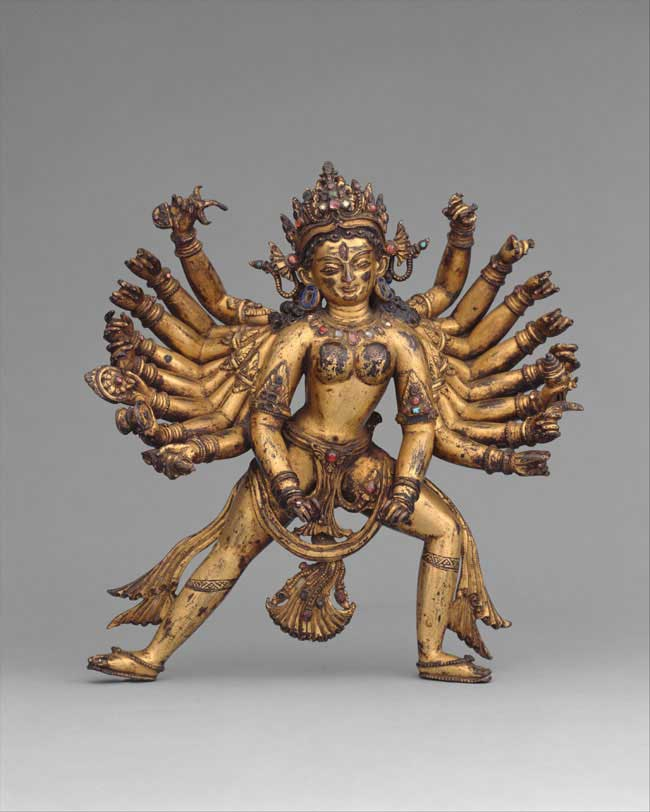 The Art Curator for Kids - Kinesthetic Art History, kinesthetic learning in art - Durga as Slayer of the Buffalo Demon Mahisha (Mahishasura Mardini), 14th-15th century