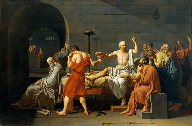The Art Curator for Kids - Kinesthetic Art History, kinesthetic learning in art - Jacques-Louis David-The Death of Socrates
