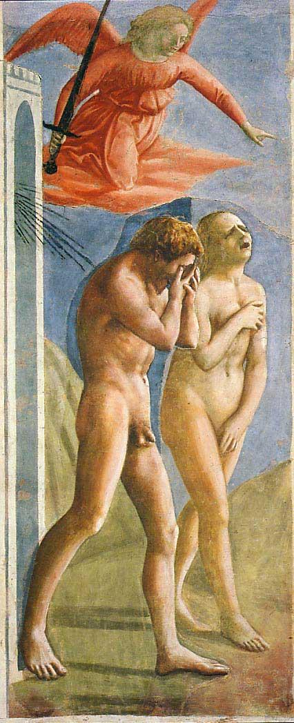 The Art Curator for Kids - Kinesthetic Art History, kinesthetic learning in art - Masaccio, Expulsion from the Garden of Eden, c. 1424-28