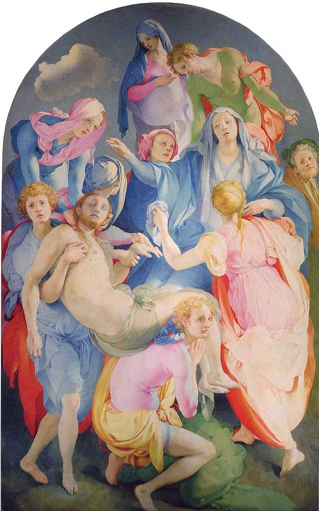 The Art Curator for Kids - Kinesthetic Art History, kinesthetic learning in art - Pontormo, Deposition from the Cross, 1525-1528