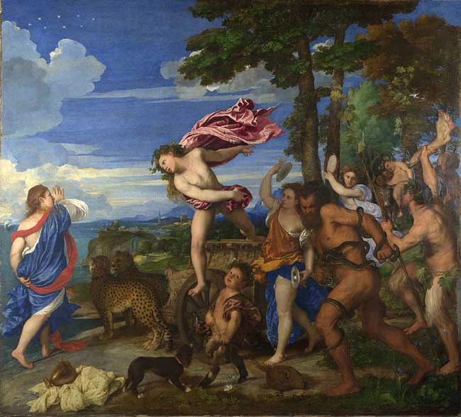 The Art Curator for Kids - Kinesthetic Art History, kinesthetic learning in art - Titian_Bacchus_and_Ariadne from 1520 until 1523