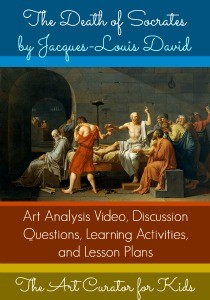 The Art Curator for Kids - Masterpiece Monday - Jacques-Louis David The Death of Socrates Painting Meaning - 300