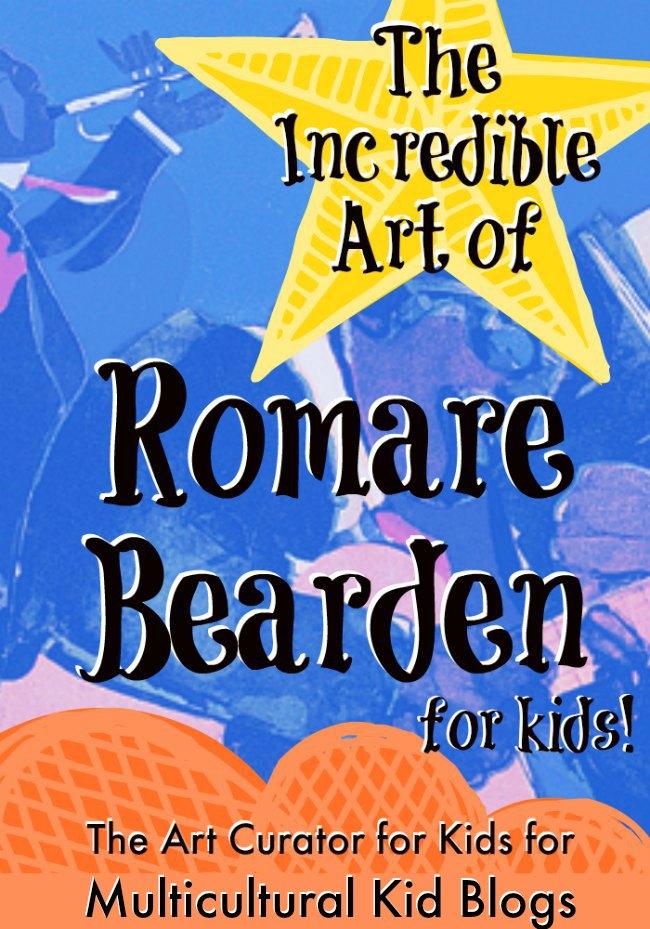 The Art Curator for Kids - The Incredible Art of Romare Bearden for Kids - Black History Month Blog Hop, Romare Bearden Lesson