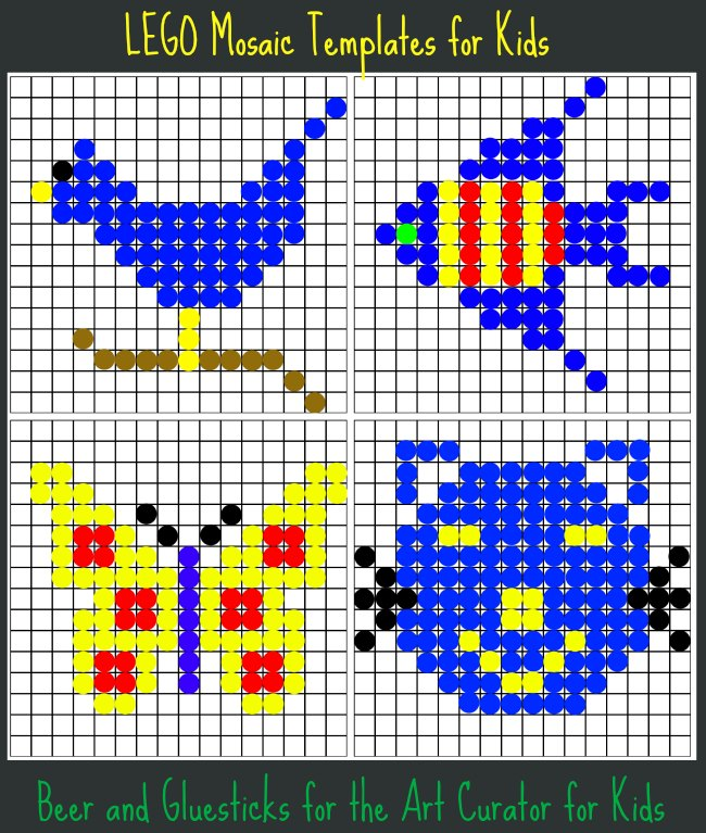 Lego mosaic build some art today for Designs for mosaics templates