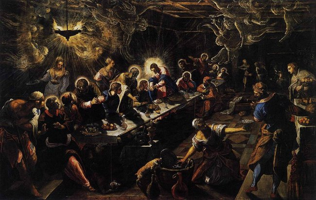Jacopo Tintoretto, The Last Supper, 1592–1594