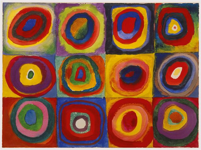 Wassily Kandinksy, Color Study: Squares with Concentric Circles, c. 1913