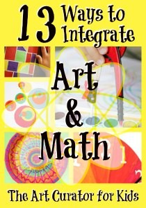The Art Curator for Kids - 13 Ways to Integrate Art and Math - Math + Art Projects - 300