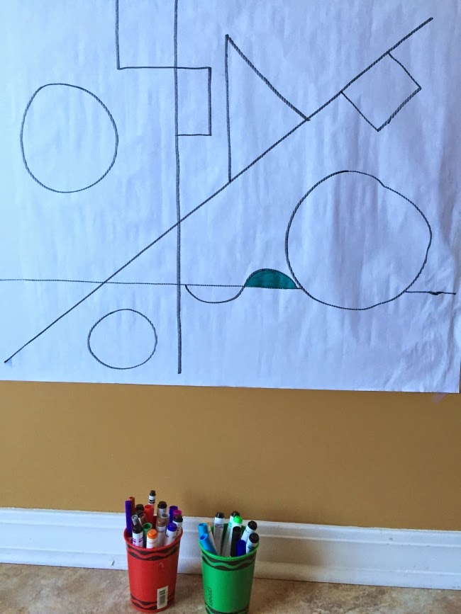 The Art Curator for Kids - Abstract Collaborative Art Invitation - Abstract Art for Preschoolers - Line and Shape Drawing