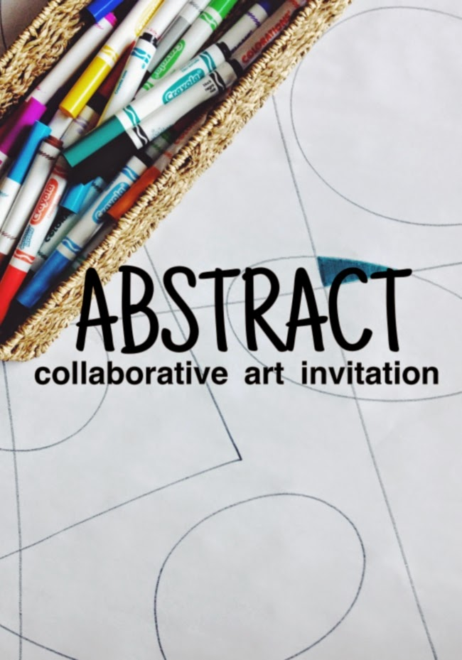 The Art Curator for Kids - Abstract Collaborative Art Invitation - Abstract Art for Preschoolers