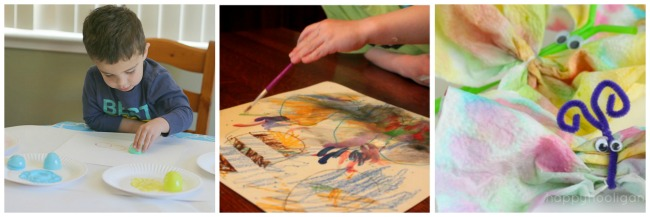 The Art Curator for Kids Easter Egg Butterfly Spring Process Art Activities