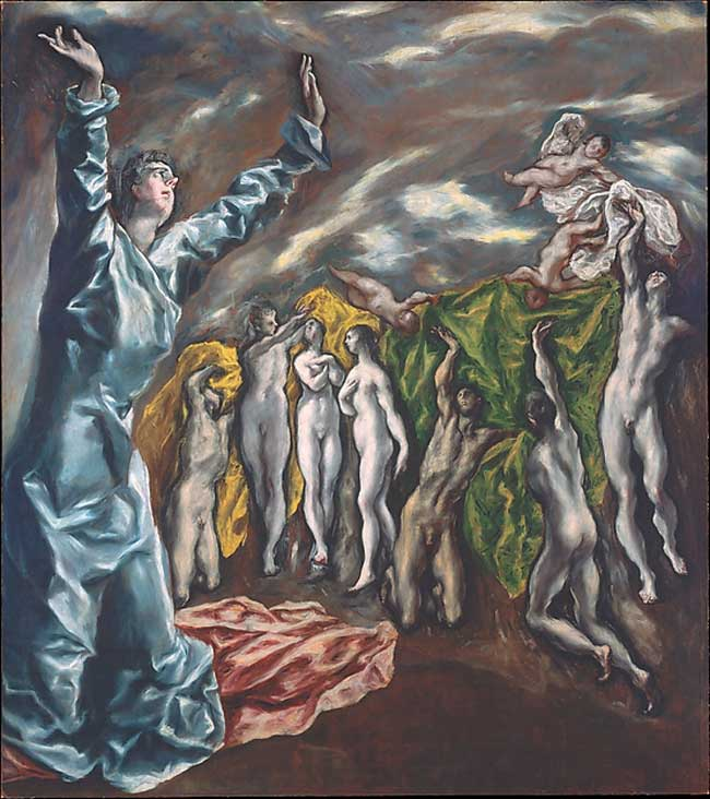 The Art Curator for Kids - Kinesthetic Art History, kinesthetic learning in art - El Greco (Domenikos Theotokopoulos), The Vision of Saint John, ca. 1609–14
