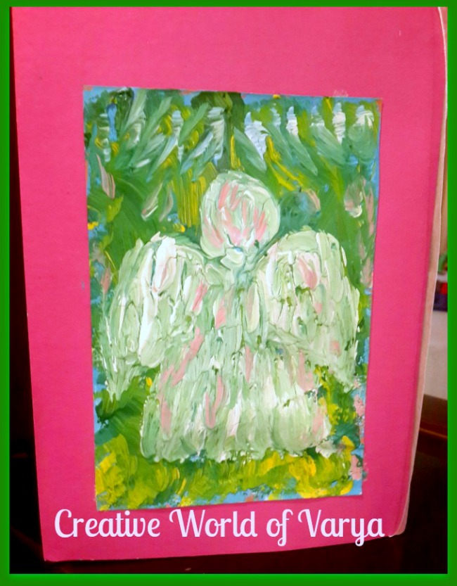 The Art Curator for Kids - Painting with Impasto with Kids - Angel Painting