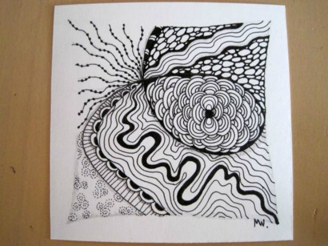 graphic about Free Printable Zentangle Worksheets identified as Zentangles