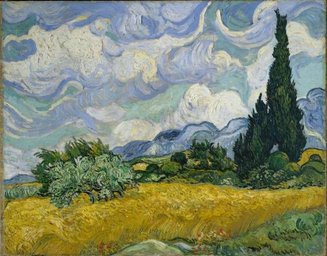 Vincent van Gogh, Wheatfield with Cypresses, 1889