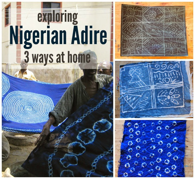 Exploring Nigerian Adire Indigo Cloth 3 different ways at home