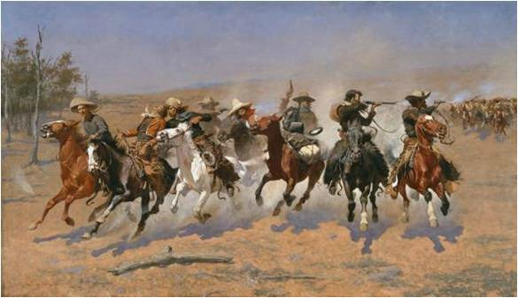 Frederic Remington, A Dash for the Timber, 1889, Amon Carter Museum, Frederic Remington Art Lessons