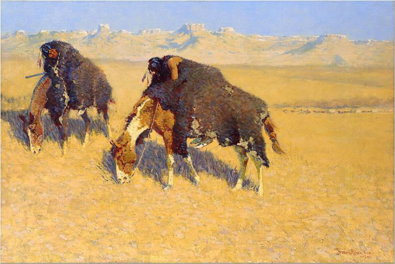 Frederic Remington, Indians Simulating Buffalo, 1908, Toledo Museum of Art, Frederic Remington Art Lessons