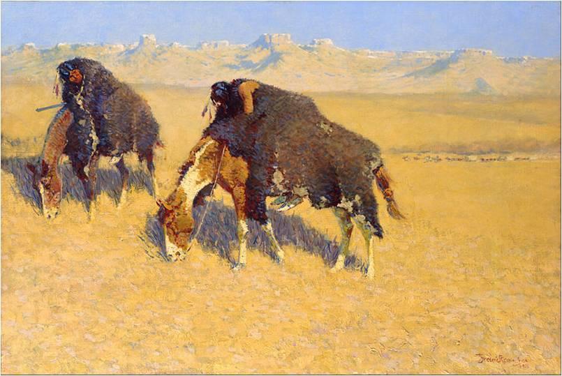 Frederic Remington, Indians Simulating Buffalo, 1908, Toledo Museum of Art, Frederic Remington Art Lessons