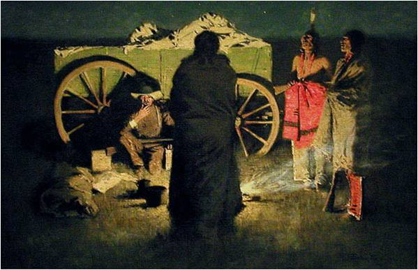 Frederic Remington, Shotgun Hospitality, 1908, Hood Museum of Art, Frederic Remington Art Lessons