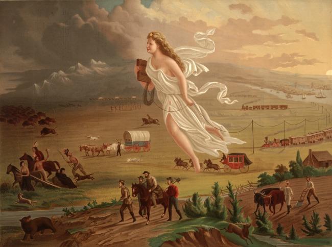 John Gast, American Progress, 1872, Manifest Destiny Art