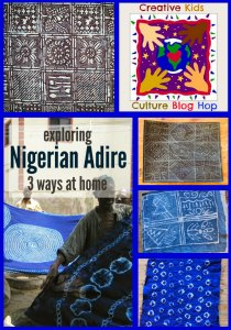 The Art Curator for Kids - Creative Kids Culture Blog Hop - Nigerian Adire Cloth-300