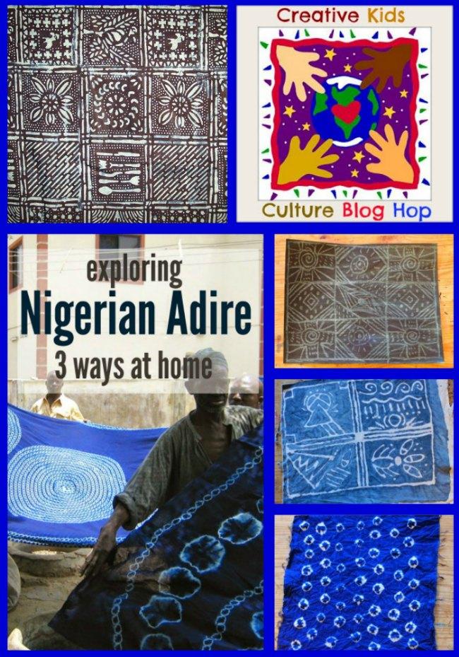 The Art Curator for Kids - Creative Kids Culture Blog Hop - Nigerian Adire Cloth