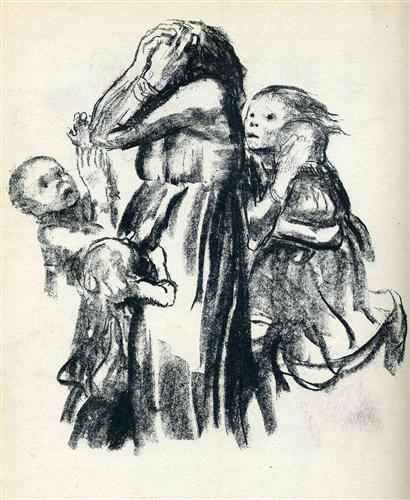 Kathe Kollwitz, Killed in Action, 1921