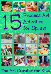 The Art Curator for Kids - Spring Process Art Activities for Kids - Easter Egg Butterfly Flowers Painting - 300
