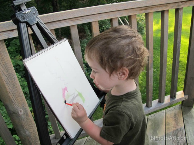 The Art Curator for Kids - Painting en plein air for kids - Painting Outside - Kids Process Art