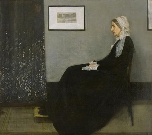 James Abbott McNeill Whistler, Arrangement in Grey and Black No.1 (1871), Musée d'Orsay, Paris principles of design examples asymmetrical balance
