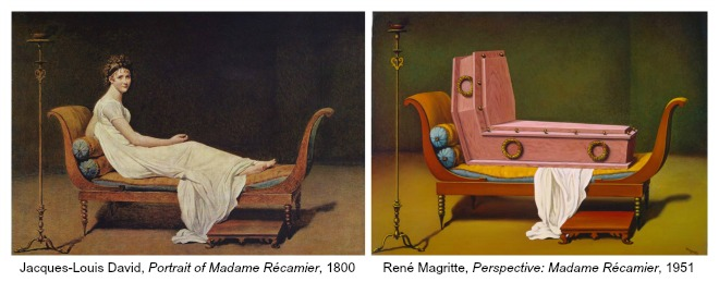The Art Curator for Kids - Art About Art History - René Magritte and Jacques-Louis David, Madame Récamier