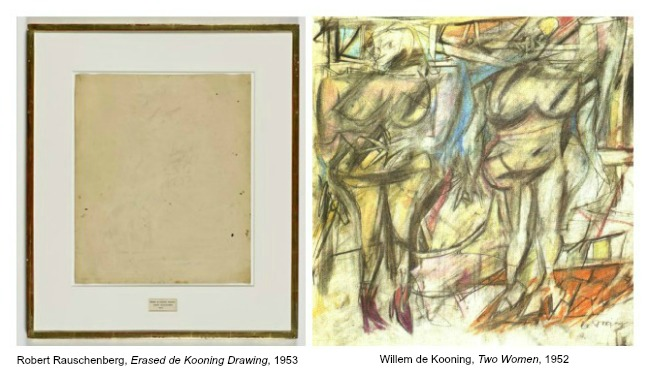 The Art Curator for Kids - Art About Art History - Erased de Kooning Drawing by Robert Rauschenberg