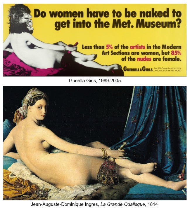 The Art Curator for Kids - Art About Art History - Guerilla Girls and Ingres, La Grande Odalisque