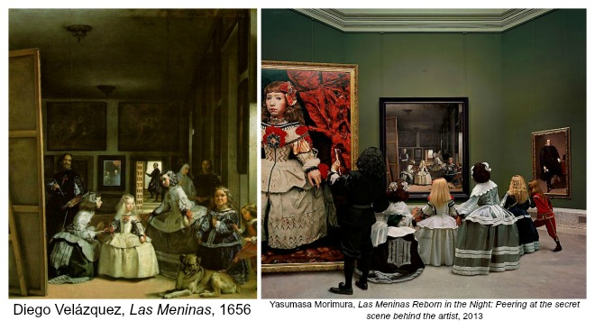 The Art Curator for Kids - Art About Art History - Las Meninas by Diego Velazquez and Yasumasa Morimura