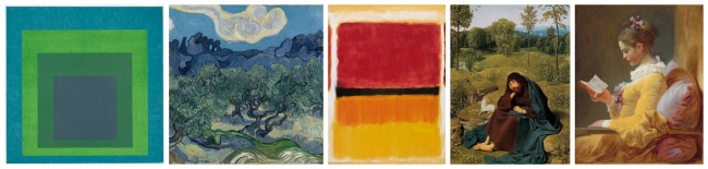The Art Curator for Kids - elements of color in art - Analogous Colors Examples