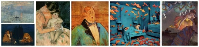 Complementary Colors in Art - Blue and Orange