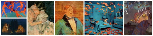 The Art Curator for Kids - Color in Art Examples - Artworks that Show Complementary Colors - Blue and Orange
