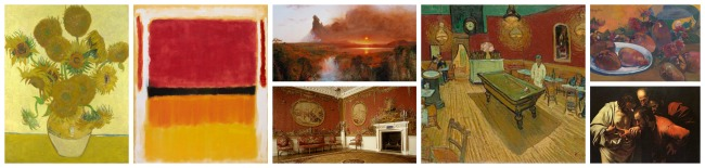 The Art Curator for Kids - Color in Art Examples - Artworks that Show Warm Colors