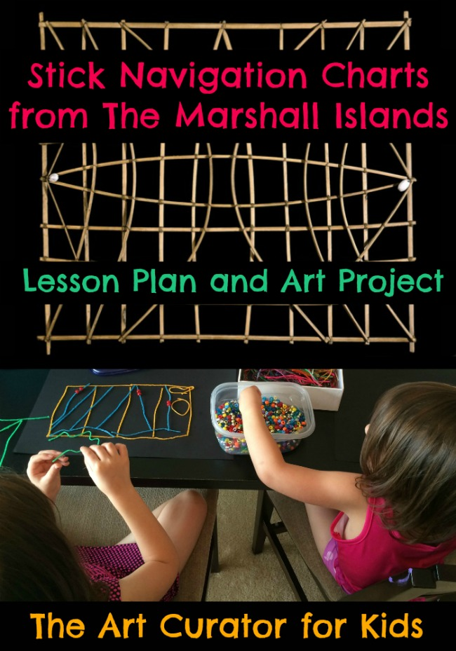 Marshall Islands Stick Chart Lesson Plan and Art Project