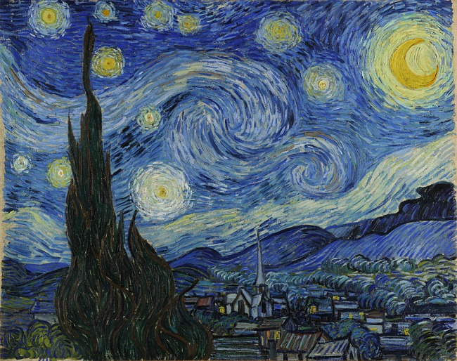 The Art Curator for Kids - Why I Hate the Elements and Principles - Vincent van Gogh The Starry Night